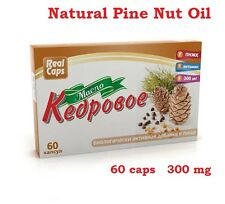 100% NATURAL SIBERIAN PINE NUT OIL – Source of Vitamins & Minerals – 60 caps