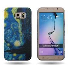 Hard Case Samsung Galaxy S6 - Starry Night Van Gogh Art Design Slim Back Cover