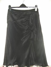BNWOT - LADIES LOVELY BLACK SILK SKIRT BY MINUET - SIZE 10