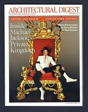 2009 ARCHITECTURAL DIGEST MICHAEL JACKSON NEVERLAND RANCH COLLECTOR'S EDITION!