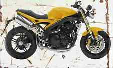 Triumph SpeedTriple 2005 Aged Vintage SIGN A4 Retro