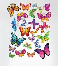 Innovative Stencils 3005 Easy Peel and Stick Colorful Butterflies Nursery Decal