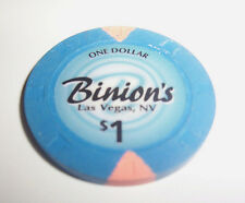 BINION'S Downtown CASINO LAS VEGAS $1 CHIP Famous Nevada Poker Gambling Dollar