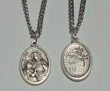 New Updated St Ann Holy Medal & Chain Grandparents Miners Equestrians Carpenters