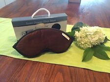 DreamTime Sweet Dreams Sleep Mask Aroma Therapy Brown Velvet New
