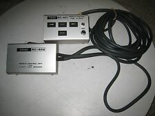 TEAC RC-601 remote control and RC-602 Repeat unit for A-6010 reel to reel