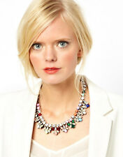 Original Shourouk Multicolor Swarovski Crystal Pamela Jumble Statement Necklace