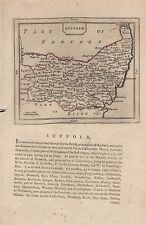 1787 COUNTY MAP JOHN SELLER - GROSE - SUFFOLK