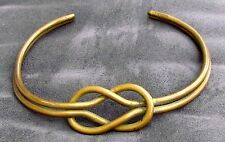 Unikat Halsreif Collier Messing Schmuck Halskette Knoten über 30 Jahre alt