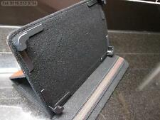 Brown 4 Corner Support Multi Angle Carry Case/Stand for Android Tablet PC
