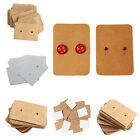 100 Professional Type Earring Ear Studs Holder Display Hang Kraft Cards Paper ZX