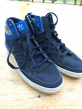 VTG ADIDAS TRAINERS UK 5.5 LACE UP SHOES FOOTBALL CASUAL SPORT BLUE