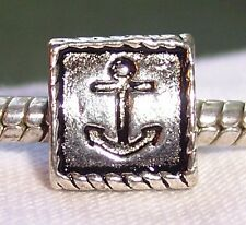 Anchor Nautical Boat Ocean Beach Spacer Bead fits Silver European Charm Bracelet