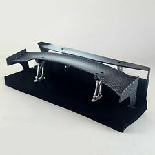 RC Drift Car 1/10 Carbon Fibre / Fiber Effect Wing Rear Spoiler Scale Body JDM