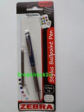 Zebra Telescopic Stylus Ballpoint Pen iPad Tablet Smartphone Navy with Black Ink