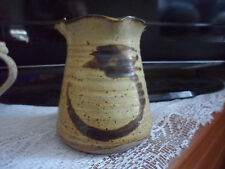 STUDIO POTTERY VASE FRILLY TOP10.5 CM TALL MARKED BUT CAN'T READ. VERY GOOD CON
