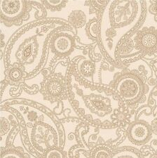 Nuevo Rasch Mandalay Paisley color beige y oro brillo Destello Luxuryweight Wallpaper 281118