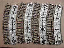 """LOTTO 8 BINARI CURVI  """"M"""" - HO - MARKLIN 5100 DISCRETE CONDIZIONI (17011)"""