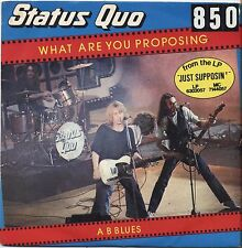 """STATUS QUO - What are you proposing - VINYL 7"""" 45 LP ITALY 1980 VG+ COVER VG-"""