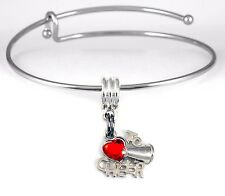 Cheer Bracelet Cheer Gift Cheering Bangle Cheerleader Present Cheer charm Brace