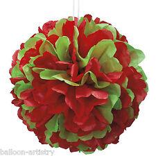 """14 """"Festa Natale Rosso classico libro verde Puff Palla Decorazione"""