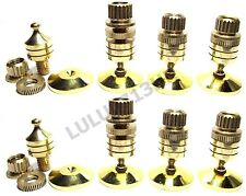 8x Copper Hifi Speaker Amp Floor Stand Spike Base Cone 8x Gold Base Pad CCB8