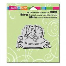 STAMPENDOUS RUBBER STAMPS CLING COZY KITTEN STAMP 2015