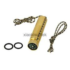EDC SOLID BRASS WATERPROOF MATCH CONTAINER BOX HOLDER CASE SURVIVAL COMPASS