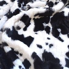 Luxurious Minky Fabric Mink Faux Fur Cow Print Cowhide Upholstery Fabric BTY