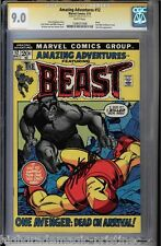 AMAZING ADVENTURES #12 CGC 9.0 STAN LEE SS SIGNED. THE BEAST #1206551006