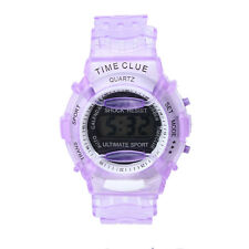 Kids Student Time Digital Watch LCD Display Boy Girl Sport WristWatch Relojes PP