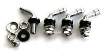 "4 PCS. 1"" CHROME TIRE VALVE STEMS 60 DEGREE ANGLED SIZE ROTA MIRO STR XXR 511"