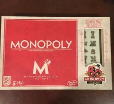 Monopoly 2015 80TH Anniversary Edition COLLECTIBLE BOARD GAME