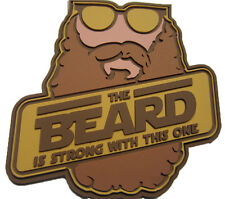 The Beard is Strong with This One - PVC Tactical Morale Patch With Hook Backing