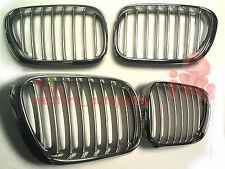 BMW X5 E 53 1999-2002 Grilles Kidney Grill Front TITAN & Chrome Wide L+R