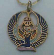 Brass Egyptian Winged ISIS Necklace- Shipped from U.S.A.