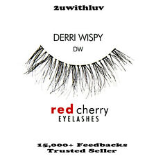 RED CHERRY 100% HUMAN HAIR BLACK FALSE EYE LASHES #DW BRAND NEW
