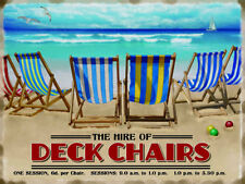 Deck Chairs, Seaside Hire, House/Kitchen, Beach, Large Metal/Tin Sign Picture