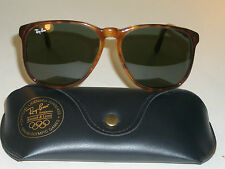 VINTAGE B&L RAY BAN MOCK TORTOISE G15 STYLE D TRADITIONAL SUNGLASSES w/CASE