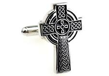 Celtic Cross Cufflinks Ireland Irish Dad Wedding Fancy Gift Box Free Ship USA