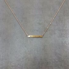 Bar Be Brave Gold Plated Necklace Gift Box Horizontal Arrow Rectangular Trendy