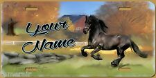 HORSE RUNNING ON COUNTRYSIDE ART LICENSE PLATE, can be Personalized