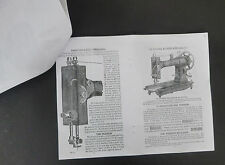 DIRECTIONS FOR WHITE ROTARY TREADLE SEWING MACHINE BOOK 11-COPY -APPROX. YR.1913