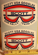 Vintage goggles decal sticker old school snow ski snowmobile Sun Valley Idaho