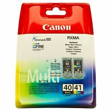 CANON BLACK PG40 PG-40 AND COLOUR CL41 CL-41 ORIGINAL
