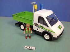 (K55) playmobil entrepreneur et camionnette ref 4322