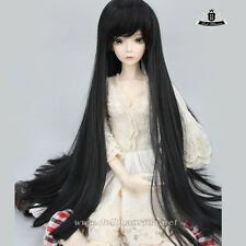"9-10"" 1/3 BJD Wig or 70cm BJD Hair Dollfie Luts EID MID DOD Black long Wig #117"