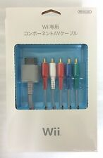 NEW Nintendo JAPAN Official AV Audiovisual Component cable for Wii RVL-011 F/S