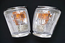 TOYOTA HILUX LN85 1998-04 FRONT CORNER INDICATOR LAMPS CHROME EDGE 99 00 +