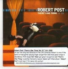 (BZ160) Robert Post, There's One Thing - 2005 DJ CD